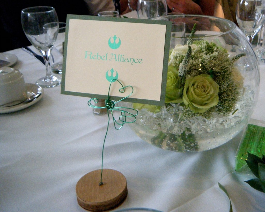 Foiled Table Name - Foiled in Light Green