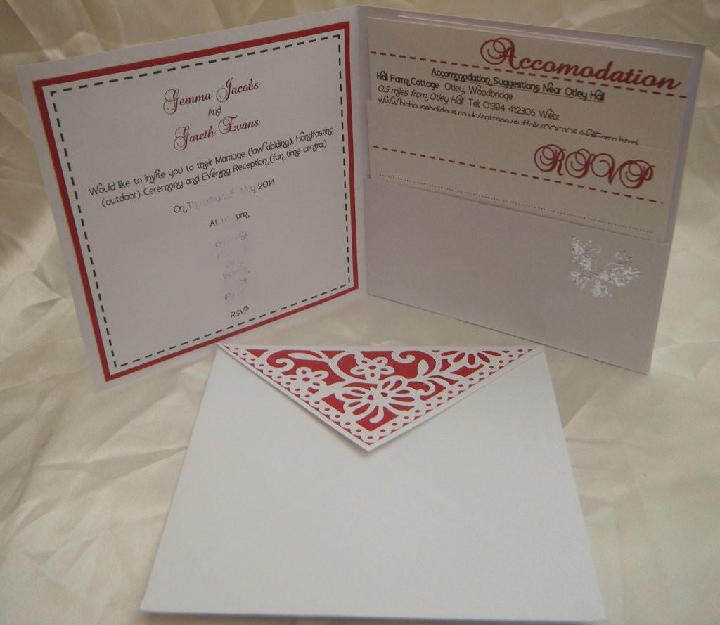 Pocket with Info Cards, Invite and Envelope