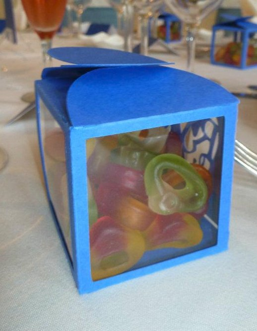 Favour Box designed with Couple's 'Logo'