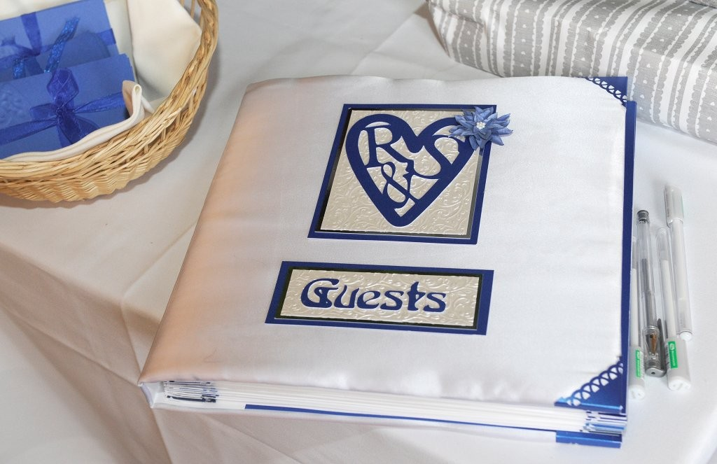Bespoke Guestbook full of envelopes and note cards for Guests to fill out and leave behind