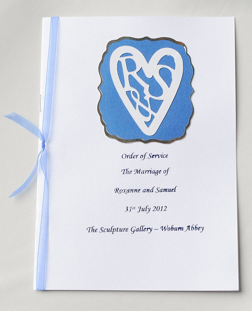 Order of Service designed with Couple's 'Logo'