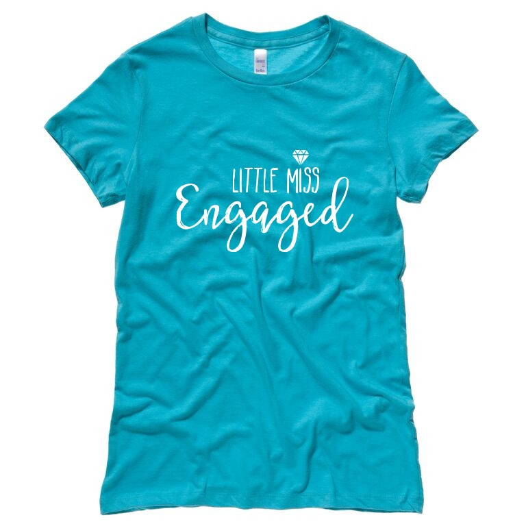 Little Miss Engaged Teal T-Shirt