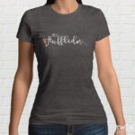 Huffledor Ladies T Shirt Grey