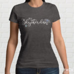 Slytherclaw Ladies T Shirt Grey