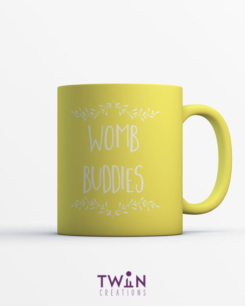 womb buddies mug yellow