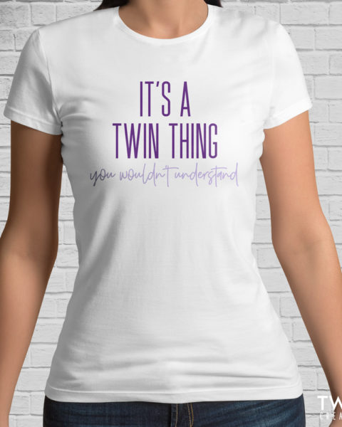 twin thing tee white