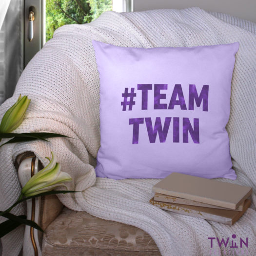 #TEAMTWIN bold cushion cover feature