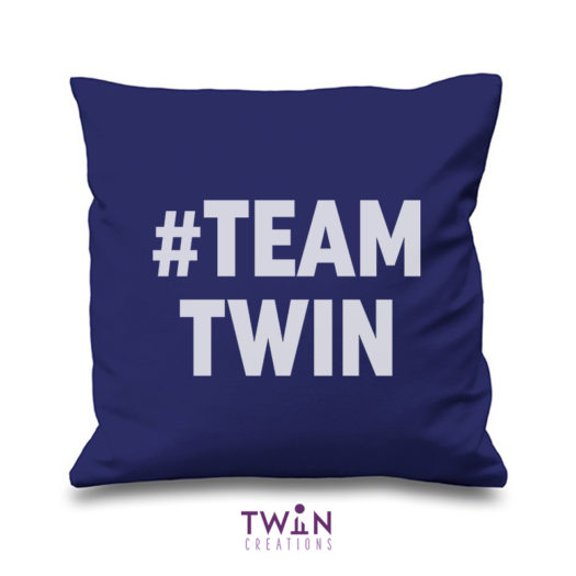#TEAMTWIN bold cushion cover navy