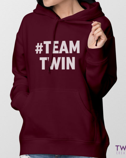 teamtwin bold hoodie ladies feature